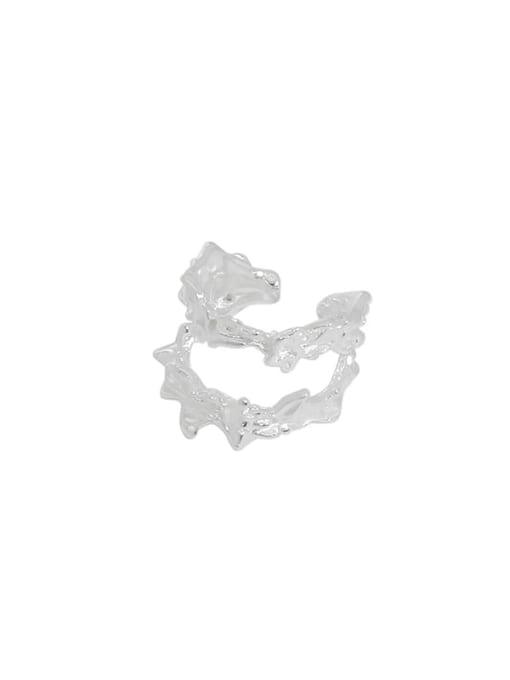 Silver [single] 925 Sterling Silver Irregular Vintage Single Earring
